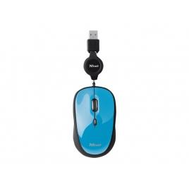 Mouse Trust YVI Mini Mouse USB Retractil Blue