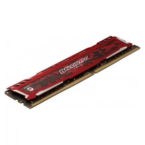 DDR4 16GB BUS 2666 Crucial CL16 Ballistix Sport LT red