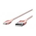 Cable Belkin Mixit Duratek USB 2.0 a Macho / Lightning Macho 1.2M Rose Gold