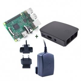 KIT Raspberry PI 3 + Fuente + Caja Black
