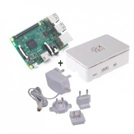 KIT Raspberry PI 3 + Fuente + Caja White