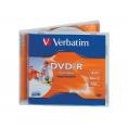 DVD-R Verbatim 4.7GB 16X Printable Caja 10U