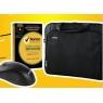 "Maletin Portatil Nilox 15.6"" Essential Black + Mouse + Antivirus Norton Security 1 Dispositivo"