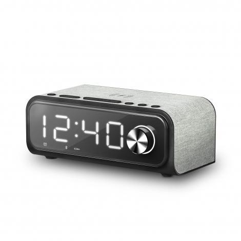 Radio Despertador Energy Clock Speaker 4 Wireless Charge Bluetooth QI USB Micro SD Radio FM