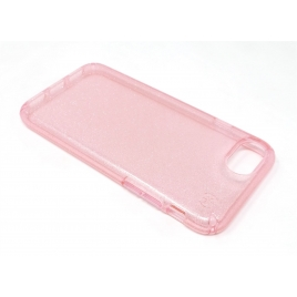 Funda Movil Back Cover Speck Presidio Clear Gold Glitter Bella Pink iPhone 6 / 6S / 7 / 8