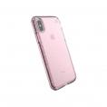 Funda Movil Back Cover Speck Presidio Clear Gold Glitter Bella Pink iPhone X / XS