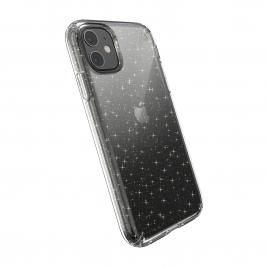 Funda Movil Back Cover Speck Presidio Clear Gold Glitter Transparent iPhone 11