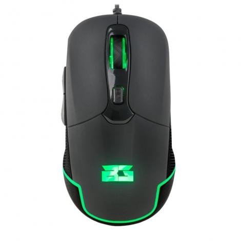 Mouse BG Gaming Hellcat 4800DPI 6 Botones USB Black/Green
