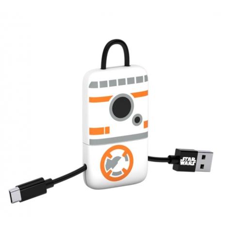 Cable Silver HT USB / Micro USB Llavero 0.2M Star Wars BB8