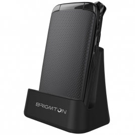 Telefono Movil Brigmton Senior BTM3 Black + Base