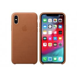 Funda iPhone XS Apple Leather Case Saddle Brown