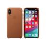 Funda iPhone XS Apple Leather Case Saddle Brown