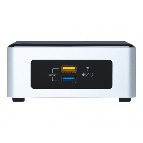 Barebone Intel NUC PQC N3700 HD Graphics 7.1 Glan Black/Silver