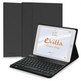 Funda Tablet E-VITTA Keytab + Teclado Bluetooth Black iPad 2017 / 2018
