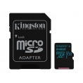 Memoria Micro SD Kingston 64GB U3 Class 10 90Mpbs + Adaptador