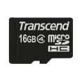 Memoria Micro SD Transcend 16GB Class 4 + Adaptador SD