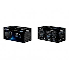Regrabadora BLU-RAY Asus BW-12D1S-U Externa Doble Capa USB 3.0 Black