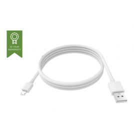 Cable Vision USB 2.0 a Macho / Micro USB B Macho 3M White