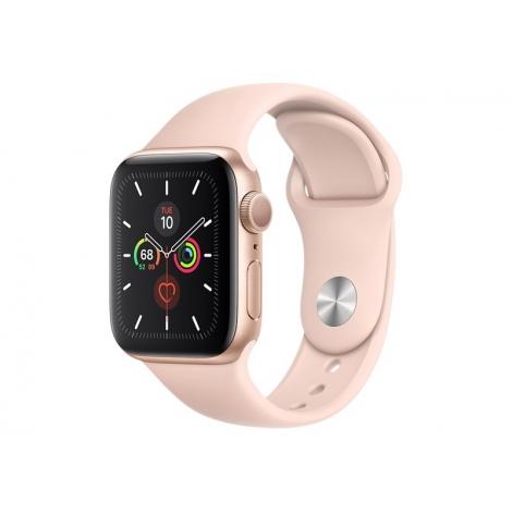 Apple Watch Serie 5 GPS 40MM Gold Aluminium + Correa Sport Pink Sand