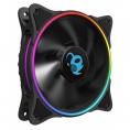 Ventilador 12CM 120X120c25mm Deep Gaming Iris RGB Doble