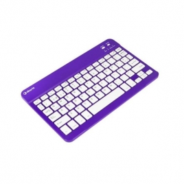 Teclado Silver HT Bluetooth White/Purple