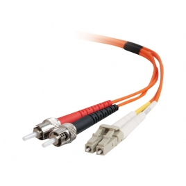 Cable C2G Fibra Optica 2 LC / 2 ST / 50/125 1M
