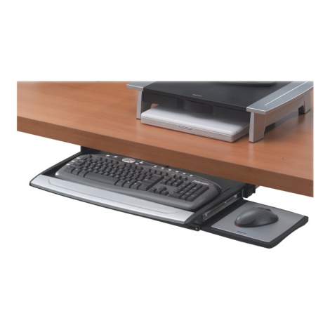 Bandeja Teclado Fellowes Deslizante Deluxe Office Suite para Escritorio Black