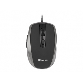 Mouse NGS Optical Tick 1600 DPI Silver USB