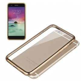 Funda Movil Back Cover Cool Silicona Transparente Borde Gold para LG K10 2017