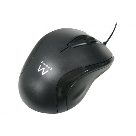 Mouse Ewent Optico 1000DPI USB Black