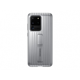 Funda Movil Back Cover Samsung Protective Standing Silver para Galaxy S20 Ultra