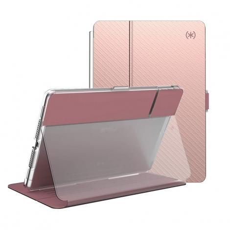 "Funda Tablet Speck Balance Folio Clear Grey Metallic iPad 2019 10.2"""