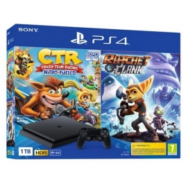 Consola Sony PS4 Slim 1TB + Crash Racing + Ratchet & Clank