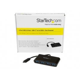 HUB Startech USB-C 4 Puertos USB 3.0 Black
