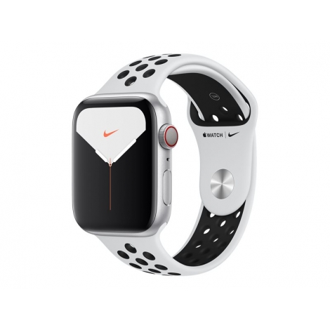Apple Watch Nike+ Serie 5 GPS + 4G 44MM Silver Aluminium + Correa Nike Sport Pure Platinum/Black