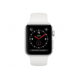 Apple Watch Serie 3 GPS + 4G 38MM Silver Aluminium + Correa Sport White