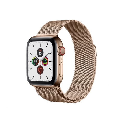 Apple Watch Serie 5 GPS + 4G 40MM Gold Stainless Steel + Correa Milanese Loop Gold