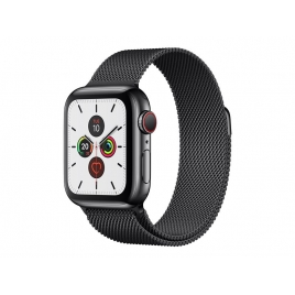 Apple Watch Serie 5 GPS + 4G 40MM Space Black Stainless Steel + Correa Milanese Loop Space Black