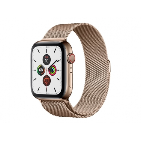 Apple Watch Serie 5 GPS + 4G 44MM Gold Stainless Steel + Correa Milanese Loop Gold