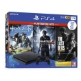 Consola Sony PS4 Slim 1TB + Pack Hits (Horizon / Uncharted 4 / Lastofus)