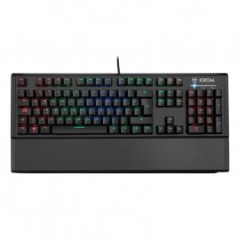 Teclado Krom Gaming Kempo RGB USB Black