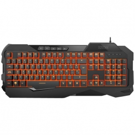 Teclado Krom Gaming Krown Mecanico Retroiluminado USB Black