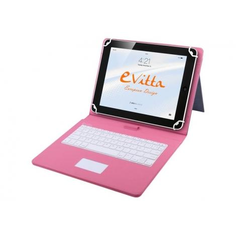 "Funda Tablet E-VITTA 9.7"" - 10.1"" Keytab + Teclado Touch USB Pink"