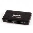Lector Memorias Coolbox 60 EN 1 Externo Black + Lector de Tarjetas Chip + Lector SIM