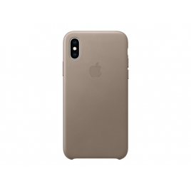 Funda iPhone XS Apple Leather Case Taupe