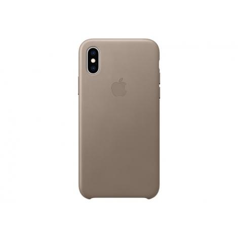 Funda iPhone XS Apple Leather Case Taupe