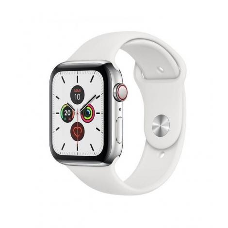 Apple Watch Serie 5 GPS + 4G 44MM Stainless Steel + Correa Sport White