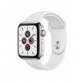 Apple Watch Serie 5 GPS + 4G 44MM Stainless Steel + Correa Sport White