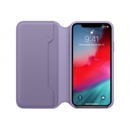 Funda iPhone XS Apple Leather Folio Lilac