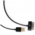 Cable Kablex USB 2.0 a Macho / Apple 30 PIN Macho 1.8M Black